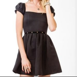 Forever 21 puffy sleeve fit and flare dress